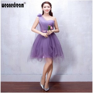 Weonedream Formal Flower Bridesmaid Dress For Wedding Occasion One Shoulder Dress Bandage Prom Dress Women Thumbnail