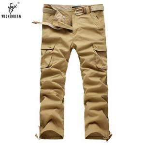 Weonedream Hot Cargo Pants Casual Multi Pocket Trousers Long Pants For Men Thumbnail