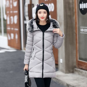 Winter Jacket Women Hooded Thicken Coat Female Warm Outwear Cotton Padded Long Wadded Jackets Coats Parka