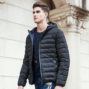 winter light thin down coat men brand clothing solid pure white duck down jacket male fashion casual hoodie parkas