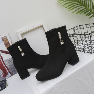 Winter new fashion woman Martin boots female rhinestone thick with round head boots casual womens boots
