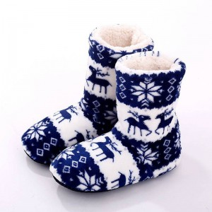 Winter Shoes Home Slippers Indoor Plush Warm Animal Printed New Design Women Thumbnail