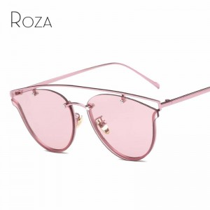 Women Cat Eye Vintage Sunglasses Punk Style Designer Metal Nose Pad Glasses UV400 Polarized Sunglasses