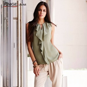 Women Fashion Casual Loose Elegant Pure Color Chic Chiffon Dress Casual Vest Tank Thumbnail