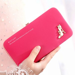 Women Long Purse Leather Ladies Wallet New Creative Design Mobile Bags Cardholders For Women Thumbnail