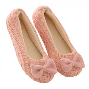 Women Sandals Homewear Indoor Slippers Cotton Bowknot Cashmere Yoga Type Thumbnail