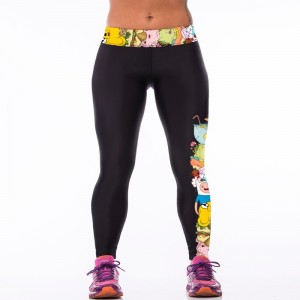 Women sexy Cartoon Printed Leggins Plus Size Stretch Girls sportswear Leggings fitness slim Absorbent sweatpants