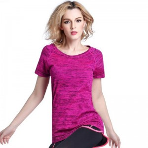 Women T Shirt Short Sleeve Hygroscopic Quick Dry Fitness Tops For Women Thumbnail