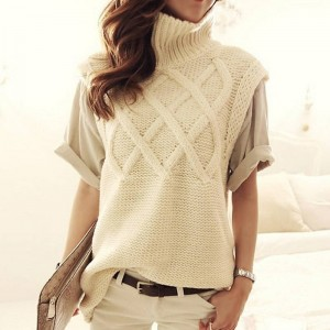 Women Turtleneck Thick Warm Long Knit Sweater Latest For Women Thumbnail