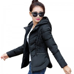 Women Winter Basic Jacket Cotton Padded Autumn Slim Hooded Female Coat Womens Jackets Casaco Feminino Inveno