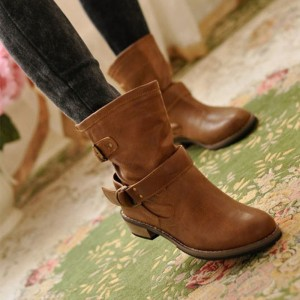 Women winter boots Motorcycle boots zapatos mujer fashion unique classic Women winter boots Female Footwear