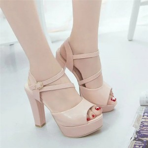 Womens Autumn Casual Wedge Vintage Ankle Strap High Heel Platform Pump Shoes Casual Loafers Sandals Shoes