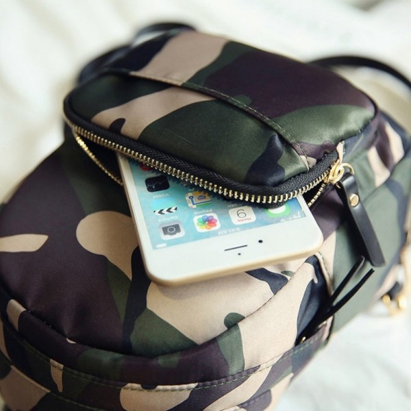 2018 Camo Backpacks Waterproof Nylon Ladies Backpacks Female Casual Travel Bags Camouflage Rucksacks Backpacks Extra Image 5