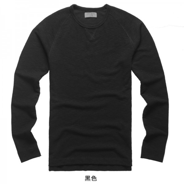 2018 Collection Of Summer Tops And Tees For Men Raglan Sleeve Slim Fit Long Sleeve Cotton T Shirts European Style Extra Image 5