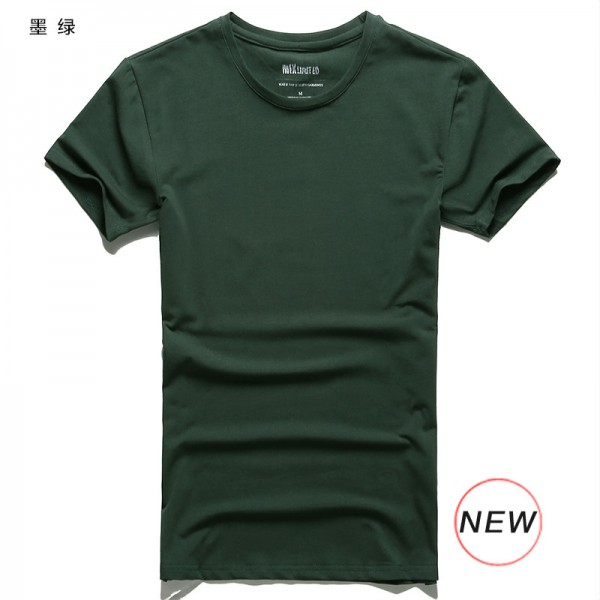 2018 Fitness Top And Tees For Men Lycra Cotton Regular Short Sleeve T Shirts O Neck Brand Summer Clothing Extra Image 4
