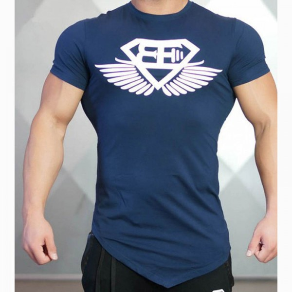 Buy 2018 New Design Male Novelty Men T Shirt Fashion Bodybuilding Body Engineers Irregular Hem Short Sleeve T Shirt
