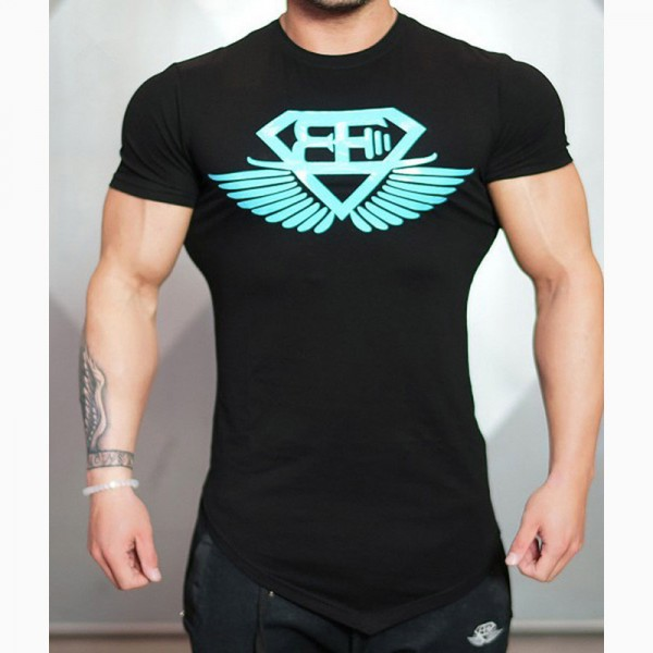 2018 New Design Male Novelty Men T shirt Fashion Bodybuilding Body Engineers Irregular Hem Short Sleeve T Shirt Tops Extra Image 6