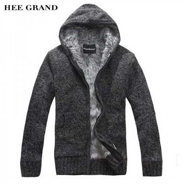 2018 New Men Warm Sweatshirts Autumn Cardigan Hooded With Zipper For Man High Quality Mens Outwear Extra Image 1