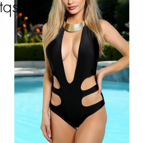 2018 New Sexy Swimwear Women One Piece Swimsuits Female Swimsuit Backless Summer Beach Wear Solid Bathing Suit Extra Image 1
