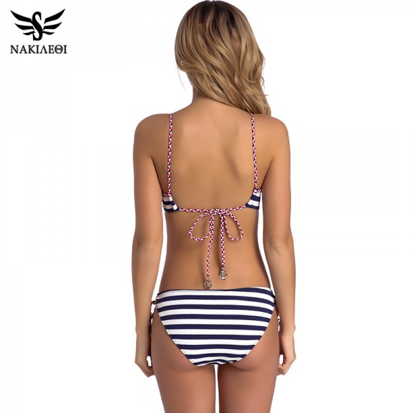 2018 Sexy Bandage Bikini Push Up Swimwear Women Brazilian Bikini Set Bathing Suit Underwire Swimsuit Summer Extra Image 3