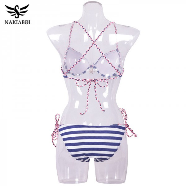 2018 Sexy Bandage Bikini Push Up Swimwear Women Brazilian Bikini Set Bathing Suit Underwire Swimsuit Summer Extra Image 6