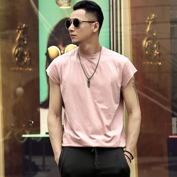 65017412c7c62 2018 Summer New Street Style Fashion Male Casual Sleeveless T Shirt  Bodybuilding Tank Tops Mens Loose Jogger Shirt