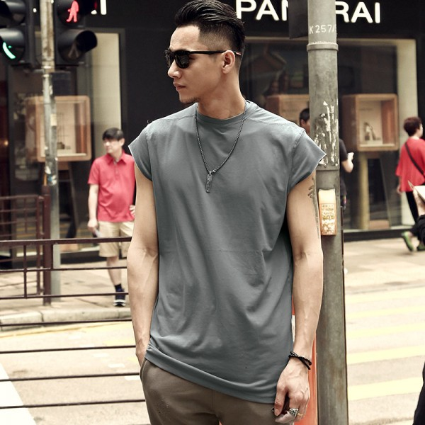 2018 Summer New Street Style Fashion Male Casual Sleeveless T Shirt Bodybuilding Tank Tops Mens Loose Jogger Shirt