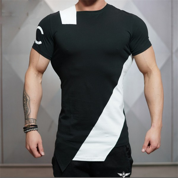 2018 Summer New Stringer Men T Shirt  Mens Bodybuilding Fitness Short Sleeve Printing T Shirt Cotton O Neck Tees Extra Image 3