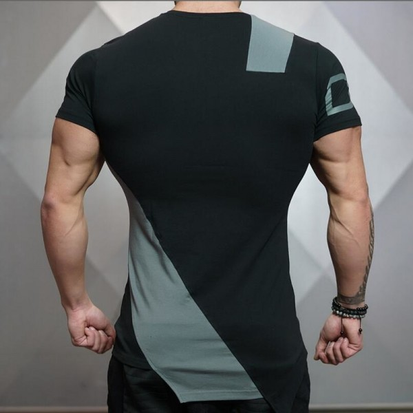 2018 Summer New Stringer Men T Shirt  Mens Bodybuilding Fitness Short Sleeve Printing T Shirt Cotton O Neck Tees Extra Image 4