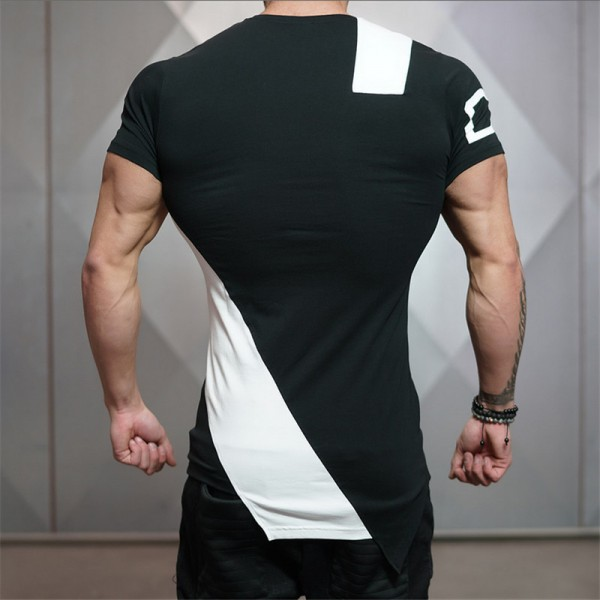 2018 Summer New Stringer Men T Shirt  Mens Bodybuilding Fitness Short Sleeve Printing T Shirt Cotton O Neck Tees Extra Image 5