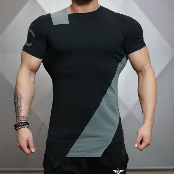2018 Summer New Stringer Men T Shirt  Mens Bodybuilding Fitness Short Sleeve Printing T Shirt Cotton O Neck Tees Extra Image 6