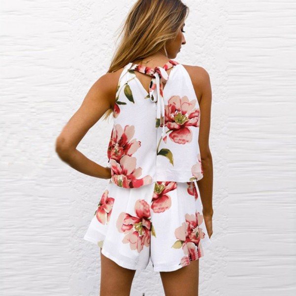 7f98dd2a391cf 2018 Summer Sleeveless Rompers Mini Dress For Women Beach Outfit Set New  Arrival Summer Wear For Ladies