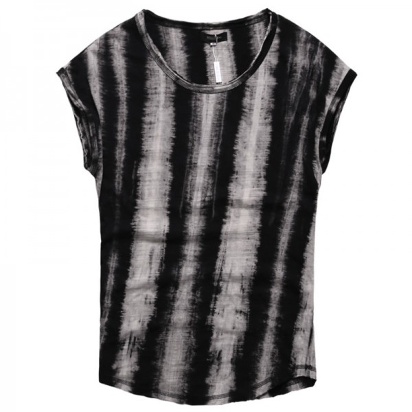 2018 Summer Style Sleeveless T Shirts Foe Men Retro Tie Dye Wide Shoulder Vest Casual Male Under Shirts Extra Image 4