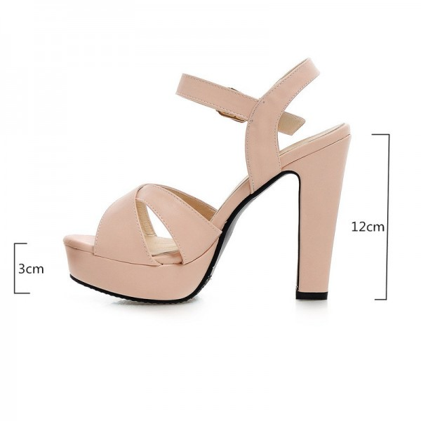 2018 Summer Women Sandals Fashion High Heels Sandal Sexy Gladiator Platform Party Dress Shoes Woman Pink Black Extra Image 1