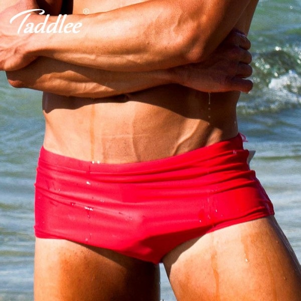 2018 Swimwear Swimsuits Swim Boxer Briefs Solid Color Sexy Men Swimming Surfing Board Shorts Gay Basic Brazilian Extra Image 2