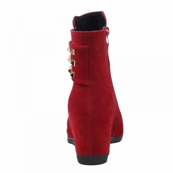 2019 autumn and winter womens boots European American wind fashion suede Martin boots increased flats Extra Image 2