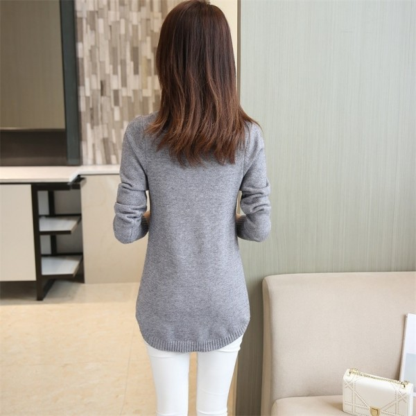 2019 Autumn Winter Women Sweater And Pullover Female Long Sleeve Knitted Jumper Jersey Tops Pull Extra Image 1