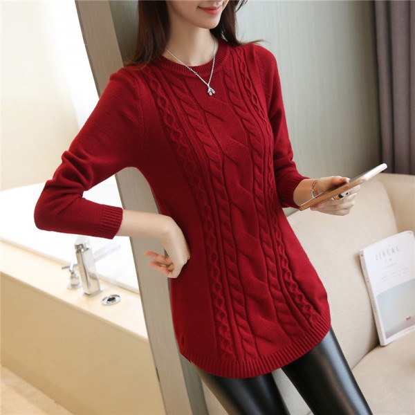 2019 Autumn Winter Women Sweater And Pullover Female Long Sleeve Knitted Jumper Jersey Tops Pull Extra Image 5