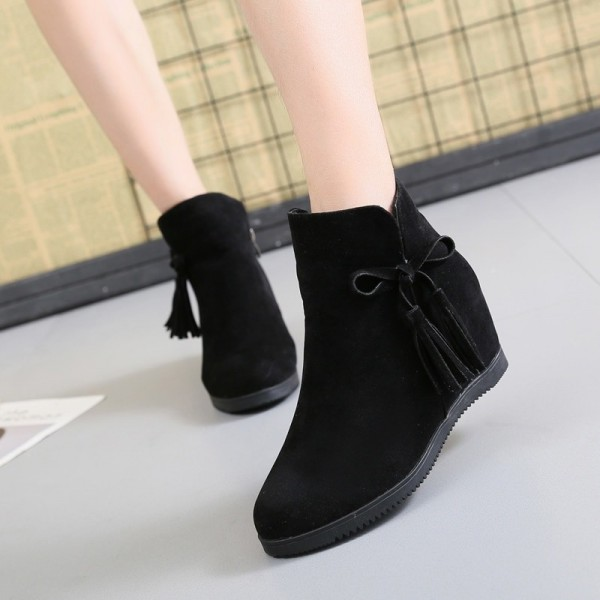 2019 flat boots womens tassels Martin boots fashion breathable British Style wind bare boots brown red color shoes Extra Image 4