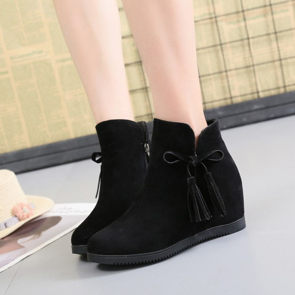 2019 flat boots womens tassels Martin boots fashion breathable British Style wind bare boots brown red color shoes Extra Image 5