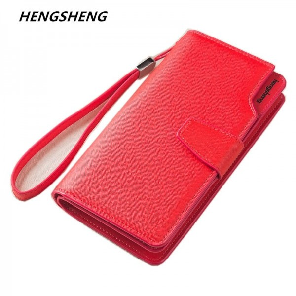 2019 New Fashion Wallet Purse For Women With Flaps And Buttons Large Capacity Money Purse Card Holder Extra Image 1