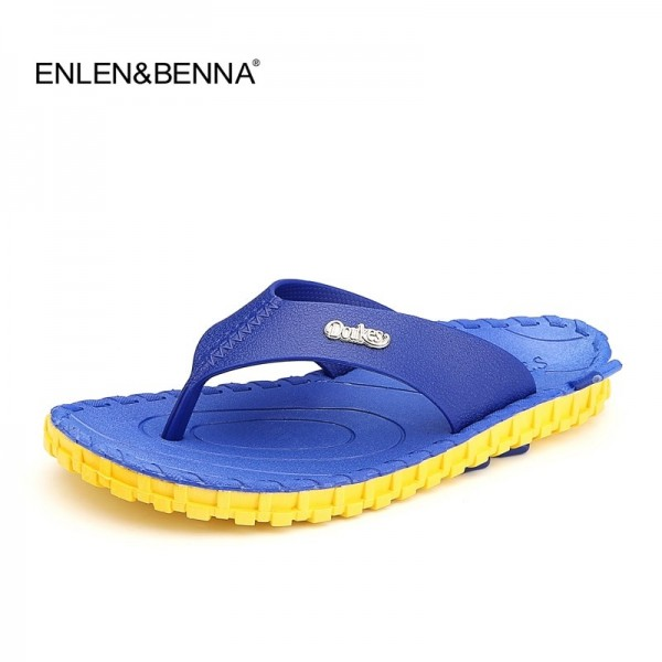 2019 Summer Men Flip Flops High Quality Beach Sandals Non Slide Male Shoes Slippers Hombre Casual Shoes Men Extra Image 2