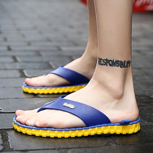 2019 Summer Men Flip Flops High Quality Beach Sandals Non Slide Male Shoes Slippers Hombre Casual Shoes Men Extra Image 5