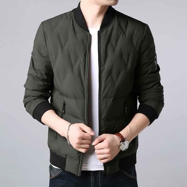2019 Top Grade Winter Fashion Duck Down Jackets Mens Korean Streetwear Feather Coat Slim Fit Warm Mens Clothing Extra Image 4