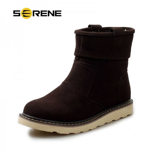2019 Winter New Arrival Men Casual Snow Boots With Fur Fashion Ankle Boots 3 Color Available Free Shipping Extra Image 3