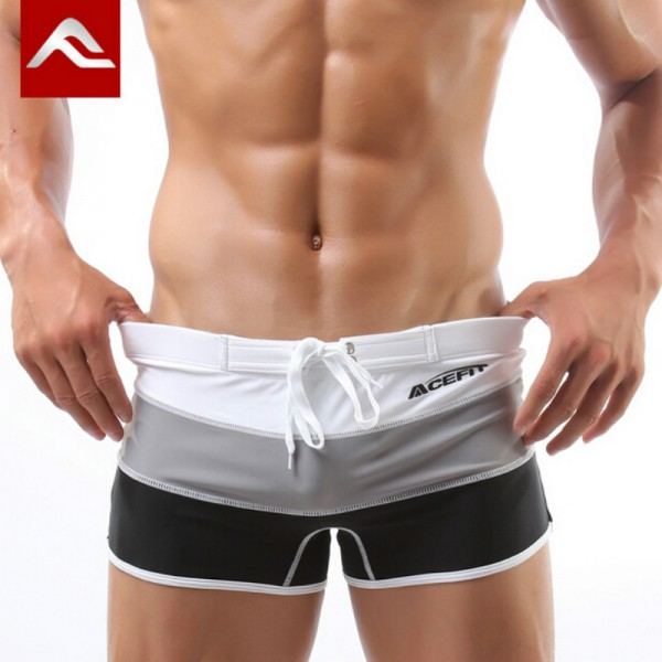 ACEFIT Swimming Trunks Swimsuit Man Gay Swimwear Mens Boxer Sexy Bathing Suit Swimming Shorts For Male Swim Wear Extra Image 1