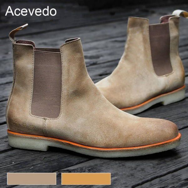 Acevedo Brand New Arrival Denim Motorcycle Boots Vintage Style For Men Thumbnail