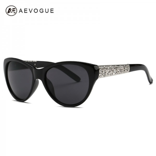 AEVOGUE Sunglasses Women Cat Eye Acetate Frame Oval Lens Shades Classic Sun Glasses Original Brand Designer UV400 Extra Image 1