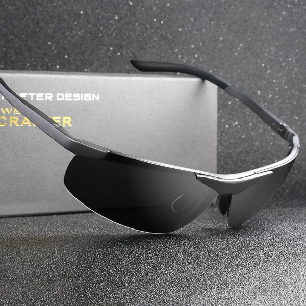 Aluminium Magnesium Polarized Sunglasses For Men Driving UV400 Anti Glare Unisex Round Eyewear Extra Image 3