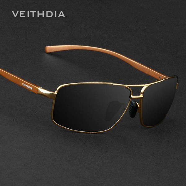 Aluminium Polarized Mens Sunglasses Veithdia Eye Accessories For Boys Adult Unisex Official Rectangle Shades Extra Image 2